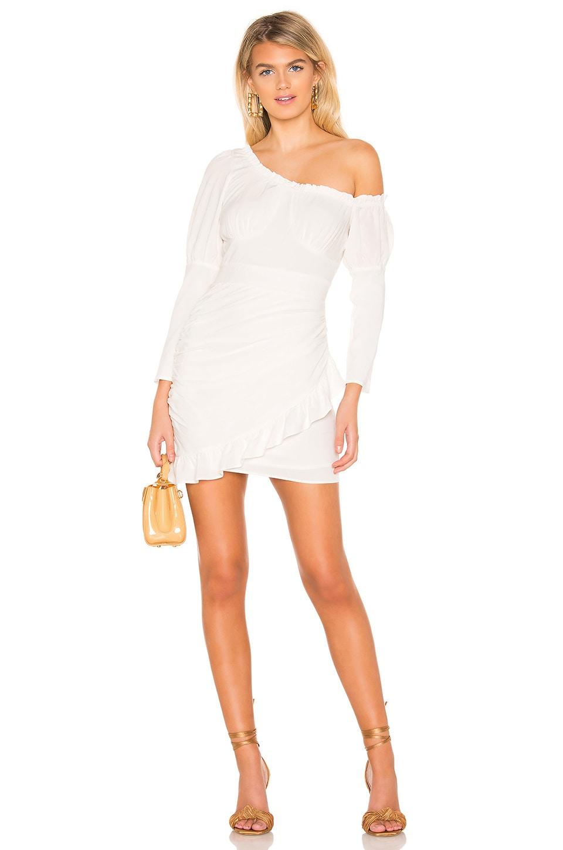 MAJORELLE Deborah Mini Dress in White