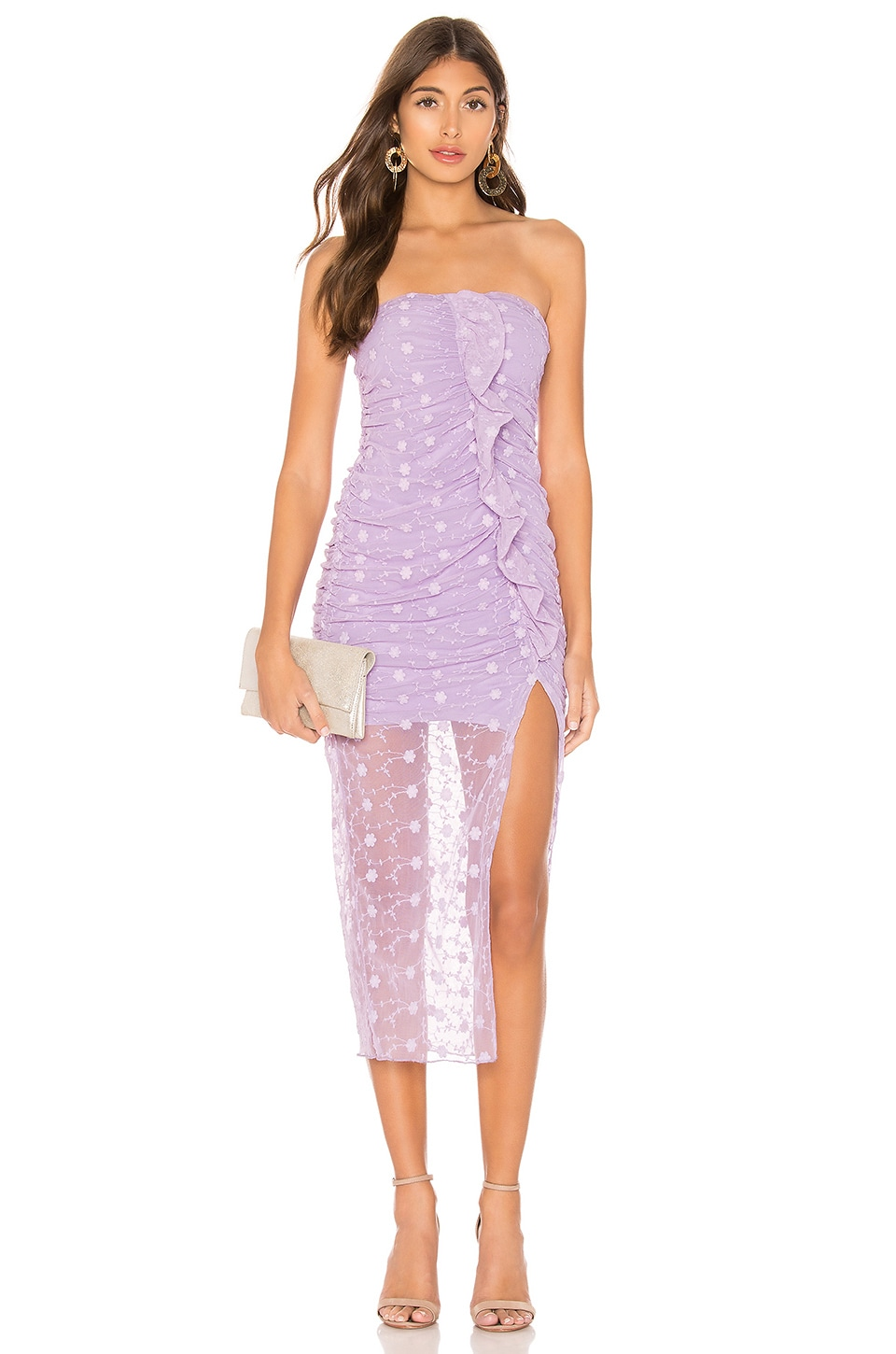 MAJORELLE Brady Dress in Amethyst Purple