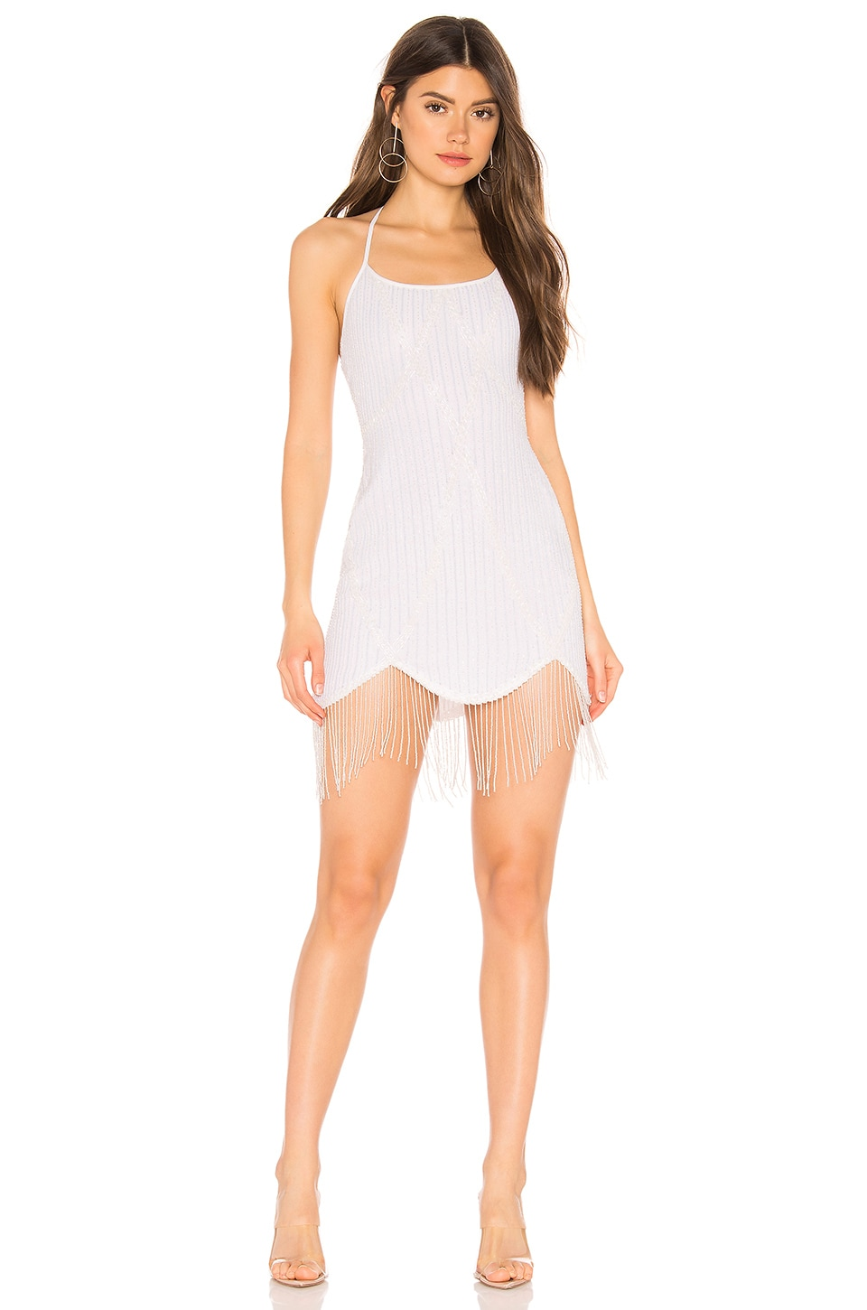 MAJORELLE Paloma Mini Dress in Pearl White