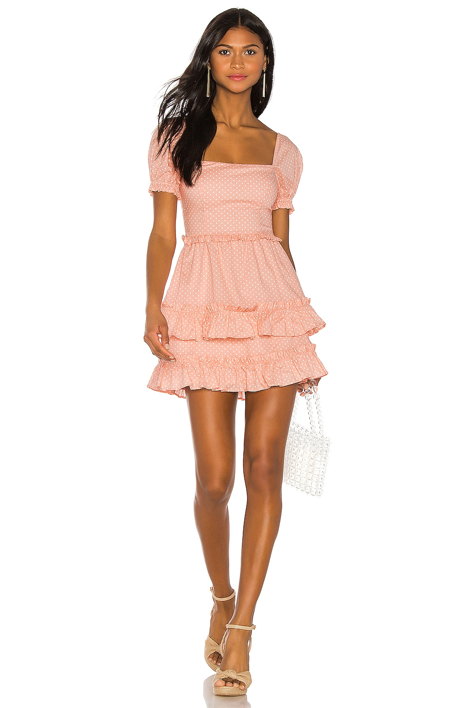 MAJORELLE Vendetti Mini Dress in Pink Dot