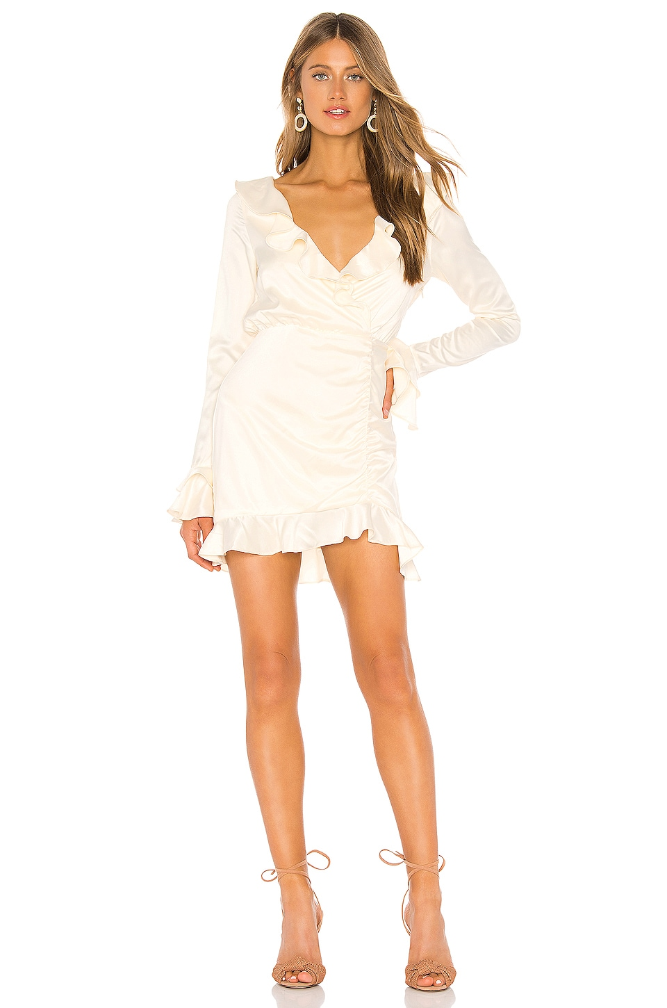 MAJORELLE Nelly Mini Dress in Ivory
