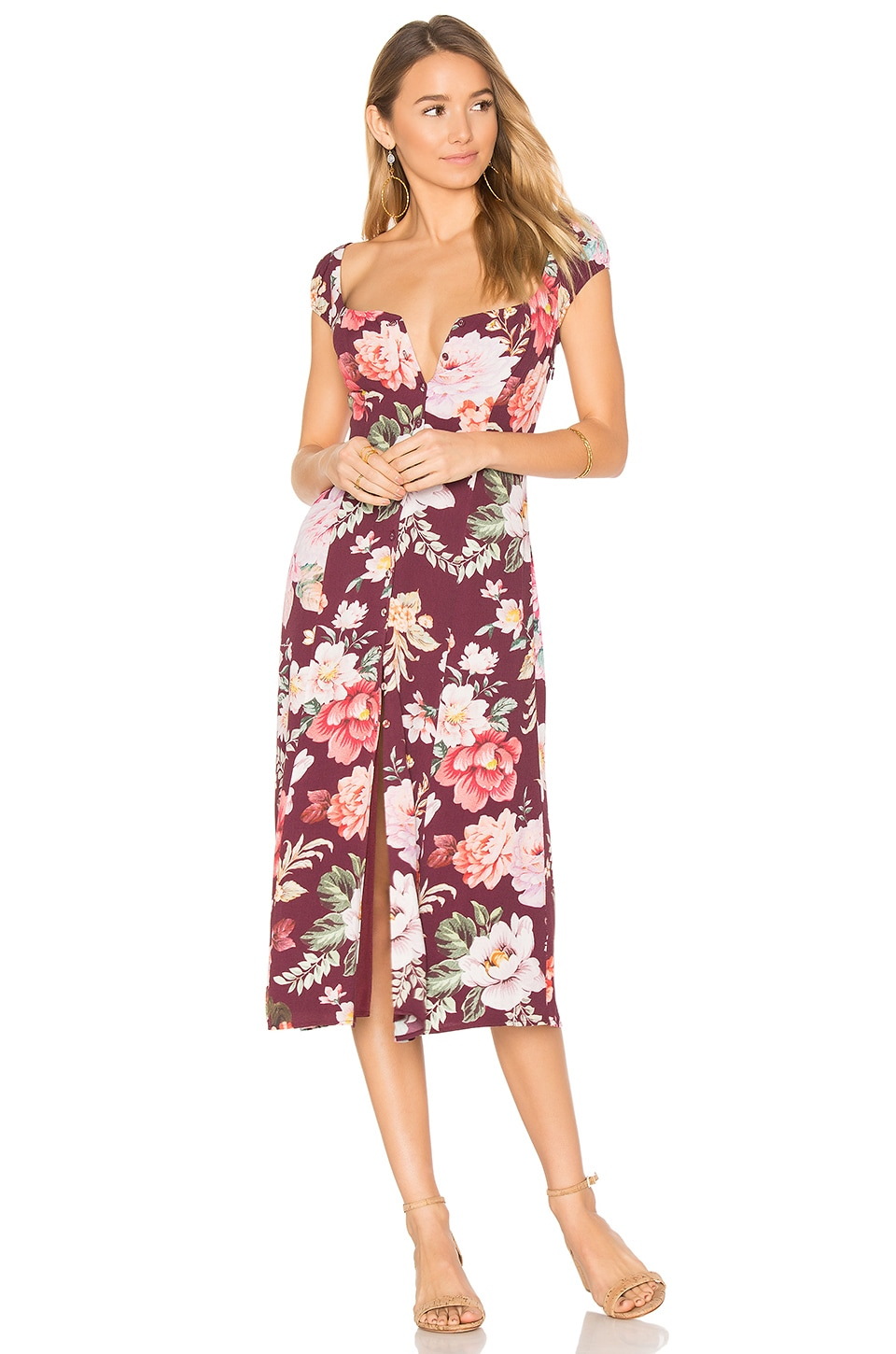 MAJORELLE Willow Midi Dress in Karolina Print