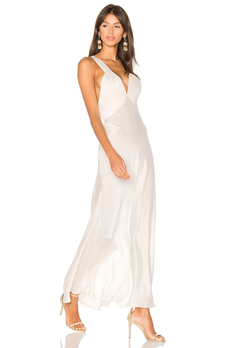 MAJORELLE Brook Maxi Dress in Biscuit