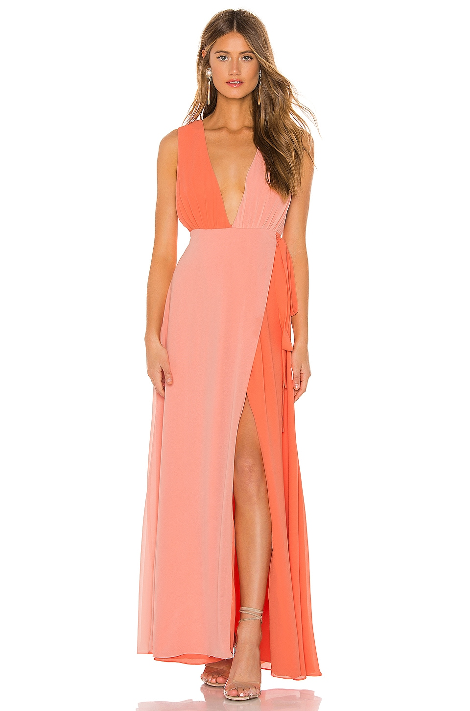 MAJORELLE Noah Gown in Orange & Sherbet