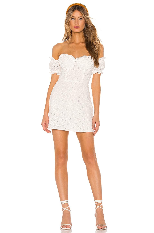 MAJORELLE Maise Dress in White