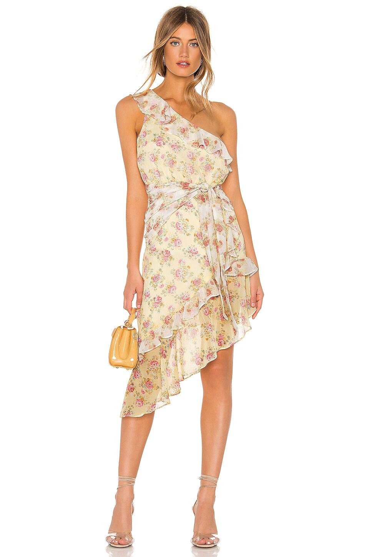 MAJORELLE Isabelle Midi Dress in Prairie Multi