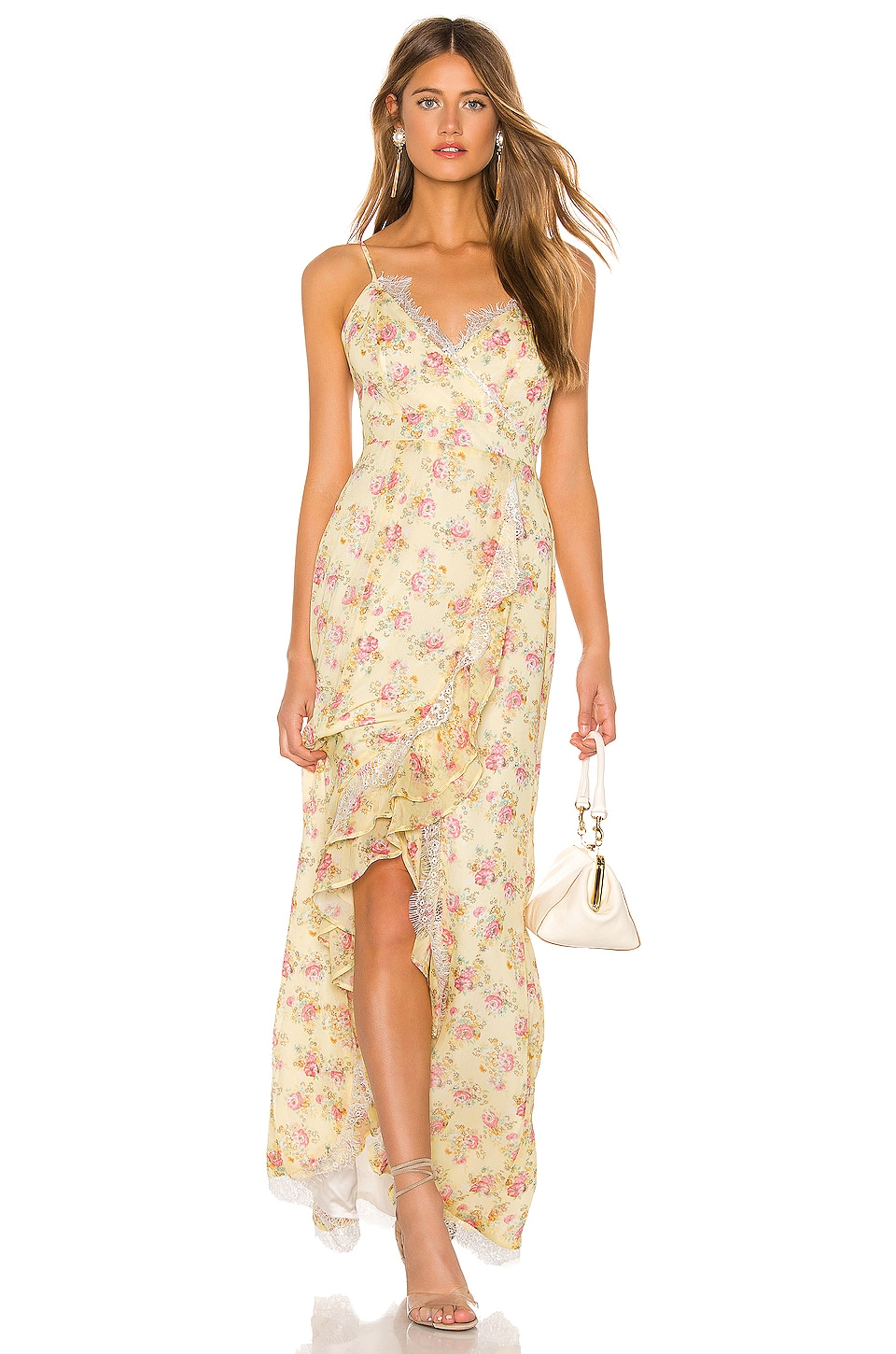 MAJORELLE Paisley Dress in Yellow Prairie