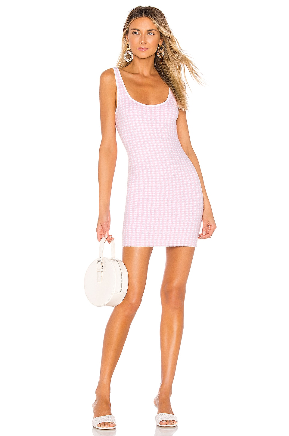 MAJORELLE Willa Dress in Pink Gingham