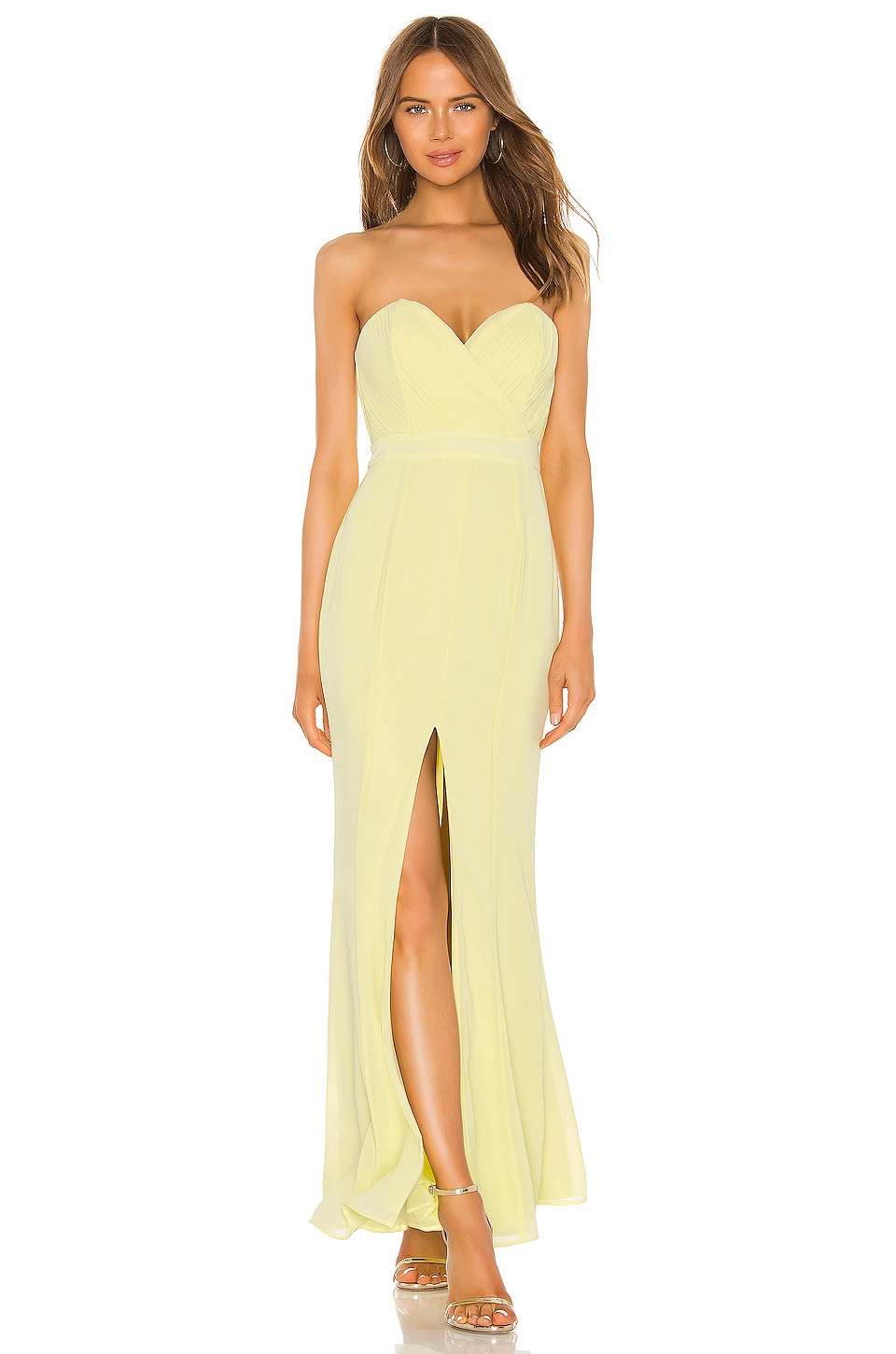 MAJORELLE Damocles Gown in Honey Yellow