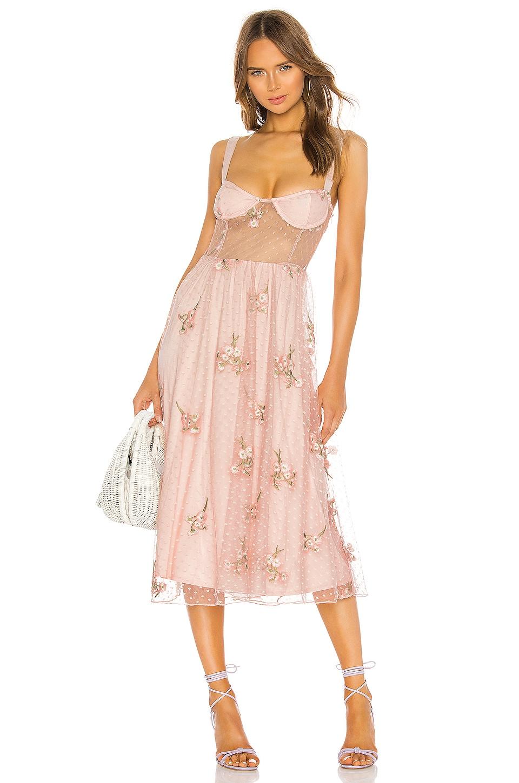 MAJORELLE Rina Dress in Princess Pink