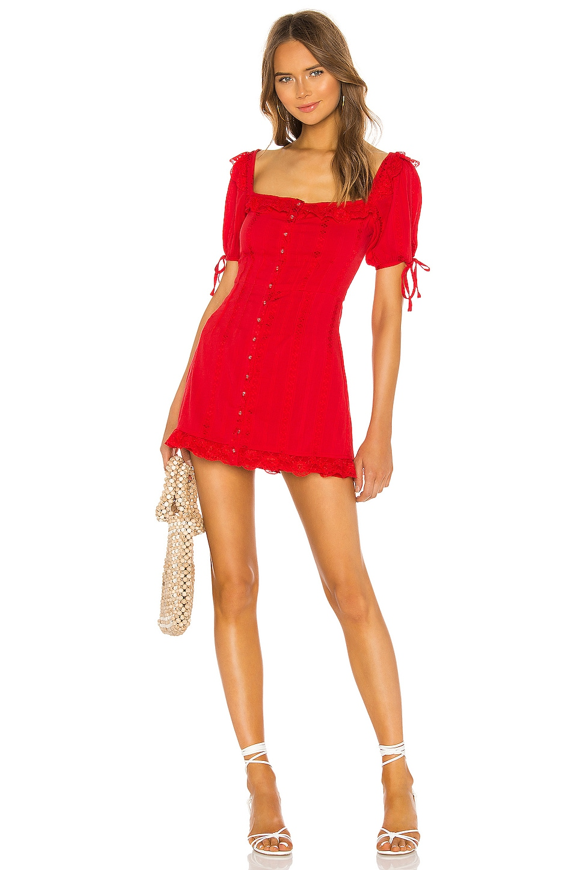 MAJORELLE Chrisalee Mini Dress in Red