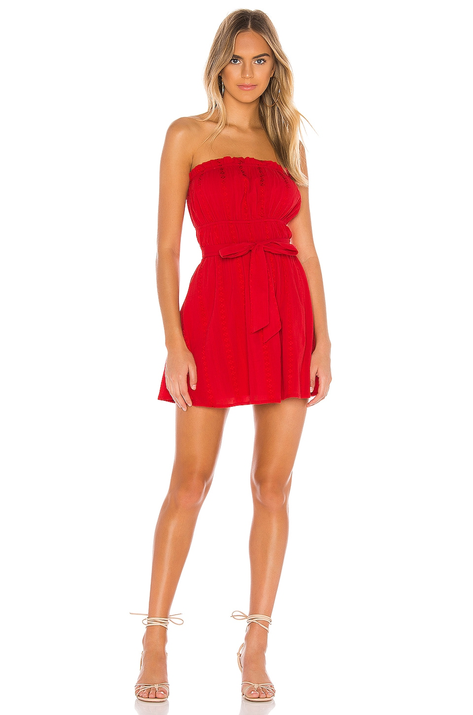 MAJORELLE Sailor Mini Dress in Red
