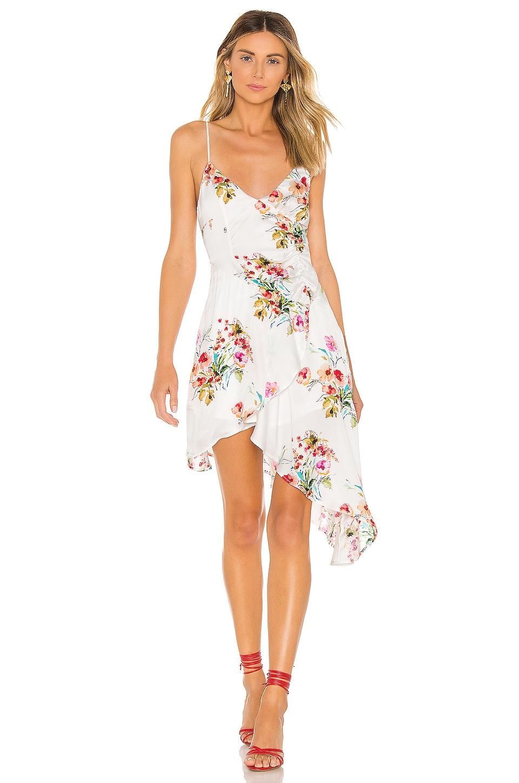 MAJORELLE Valentina Midi Dress in Watercolor Multi