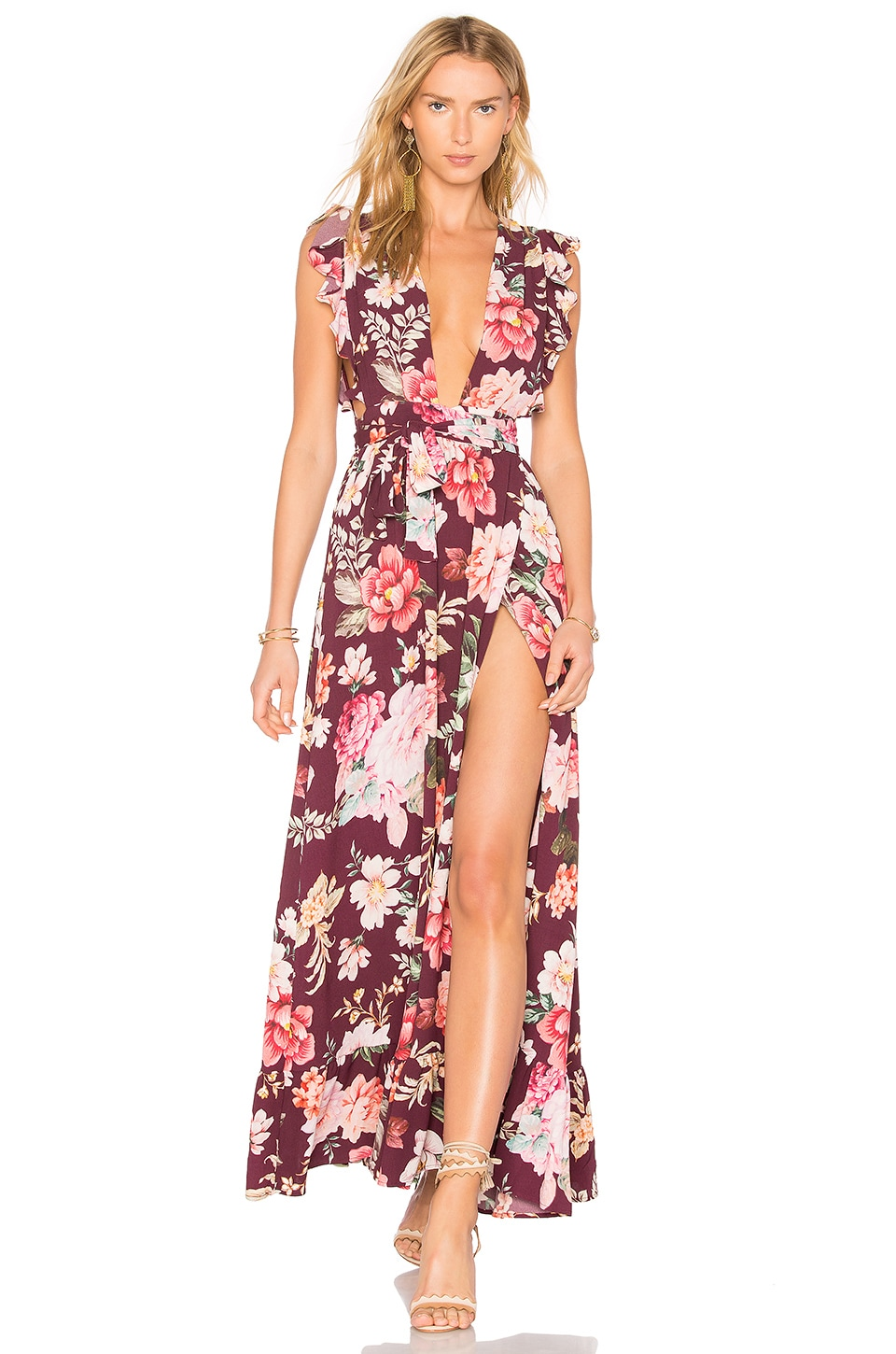 MAJORELLE Sweet Pea Dress in Karolina Print