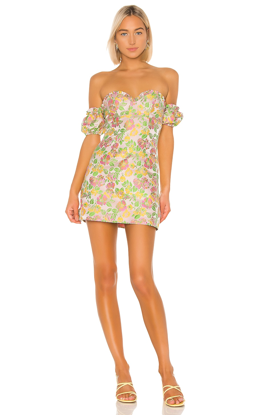 MAJORELLE Skye Mini Dress in Flamingo Pink