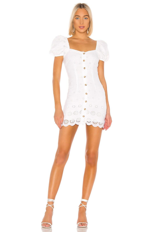 MAJORELLE Johnny Mini Dress in White