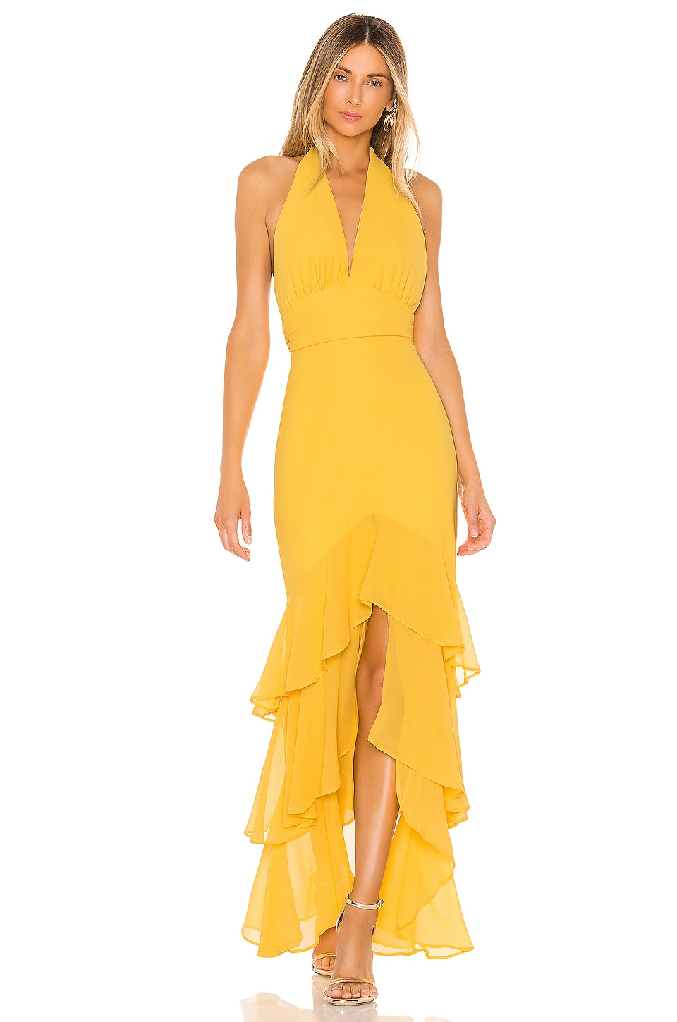 MAJORELLE Manda Gown in Yellow