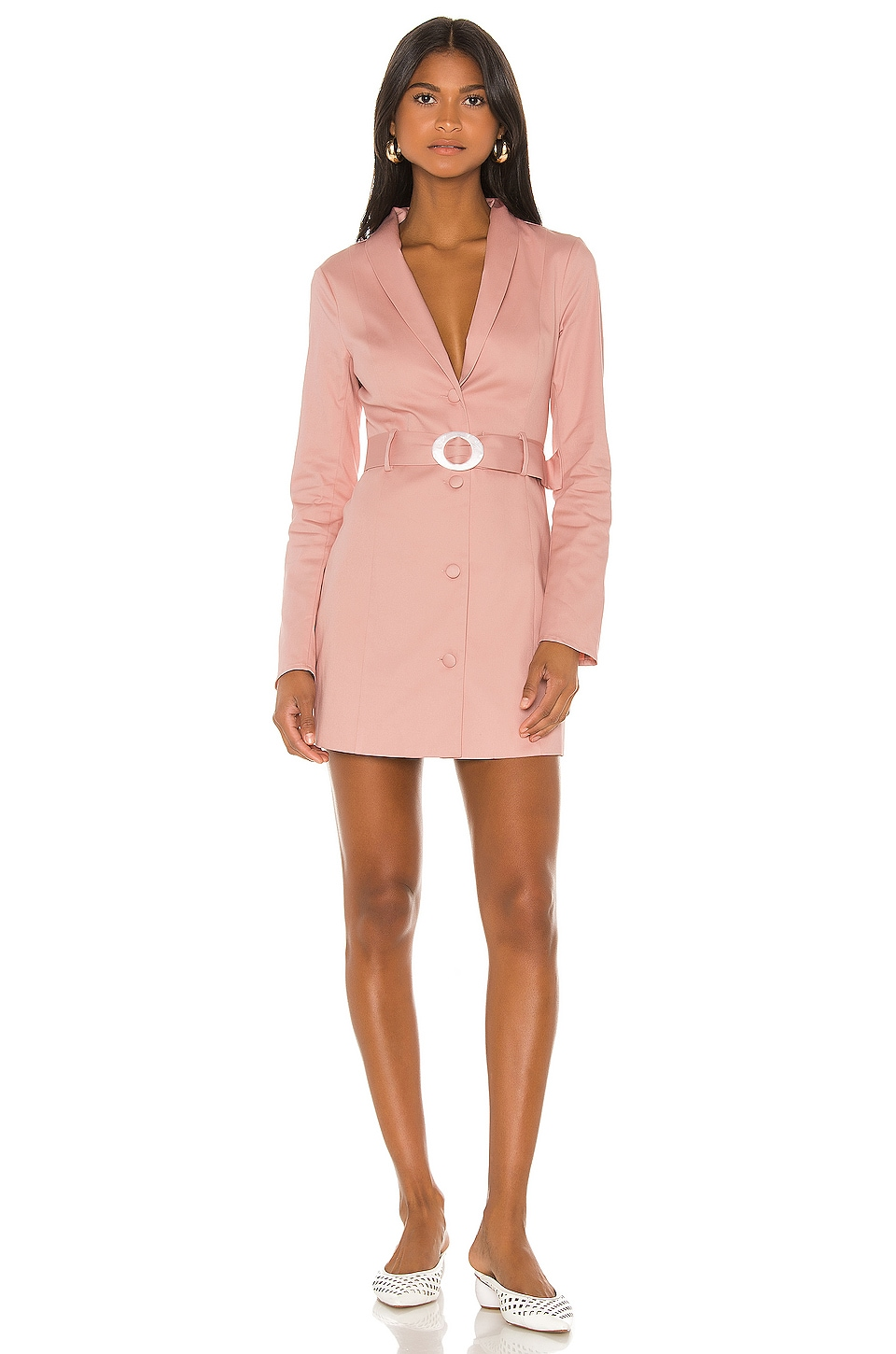 MAJORELLE Zayn Mini Dress in Dusty Pink