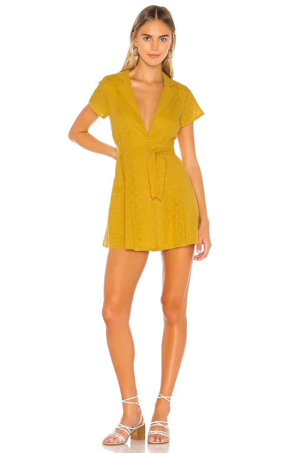 MAJORELLE Tumbleweed Dress in Gold