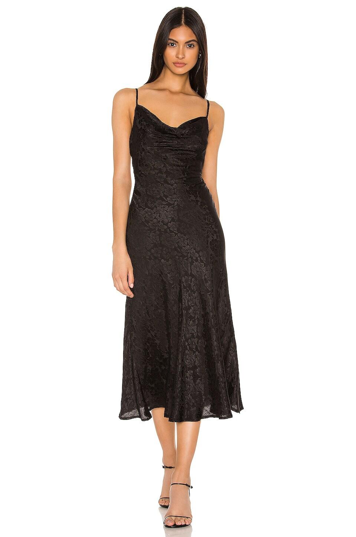 MAJORELLE Adeline Midi Dress in Black