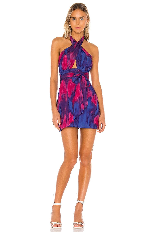 MAJORELLE Hepburn Mini Dress in Tie Dye Multi