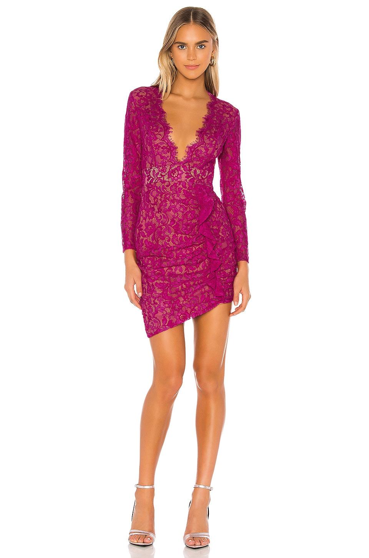MAJORELLE Velma Mini Dress in Magenta Purple