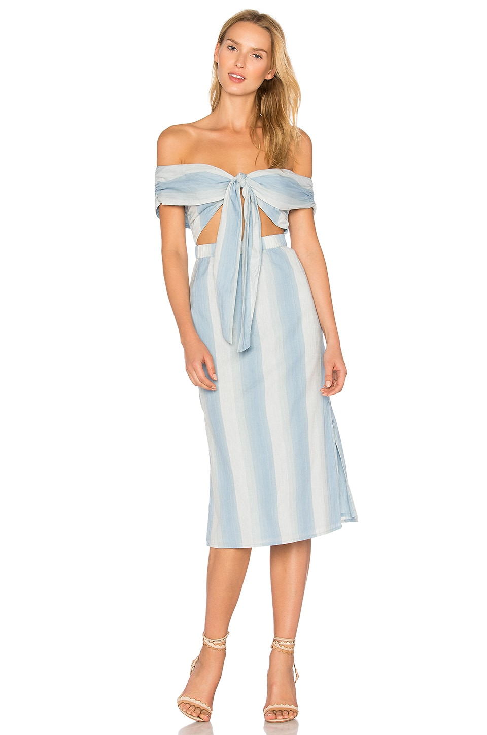 MAJORELLE Rum Runner Dress in Blue Stripe