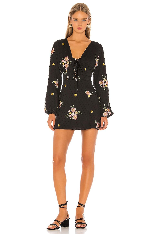 MAJORELLE Anette Mini Dress in Black Dot