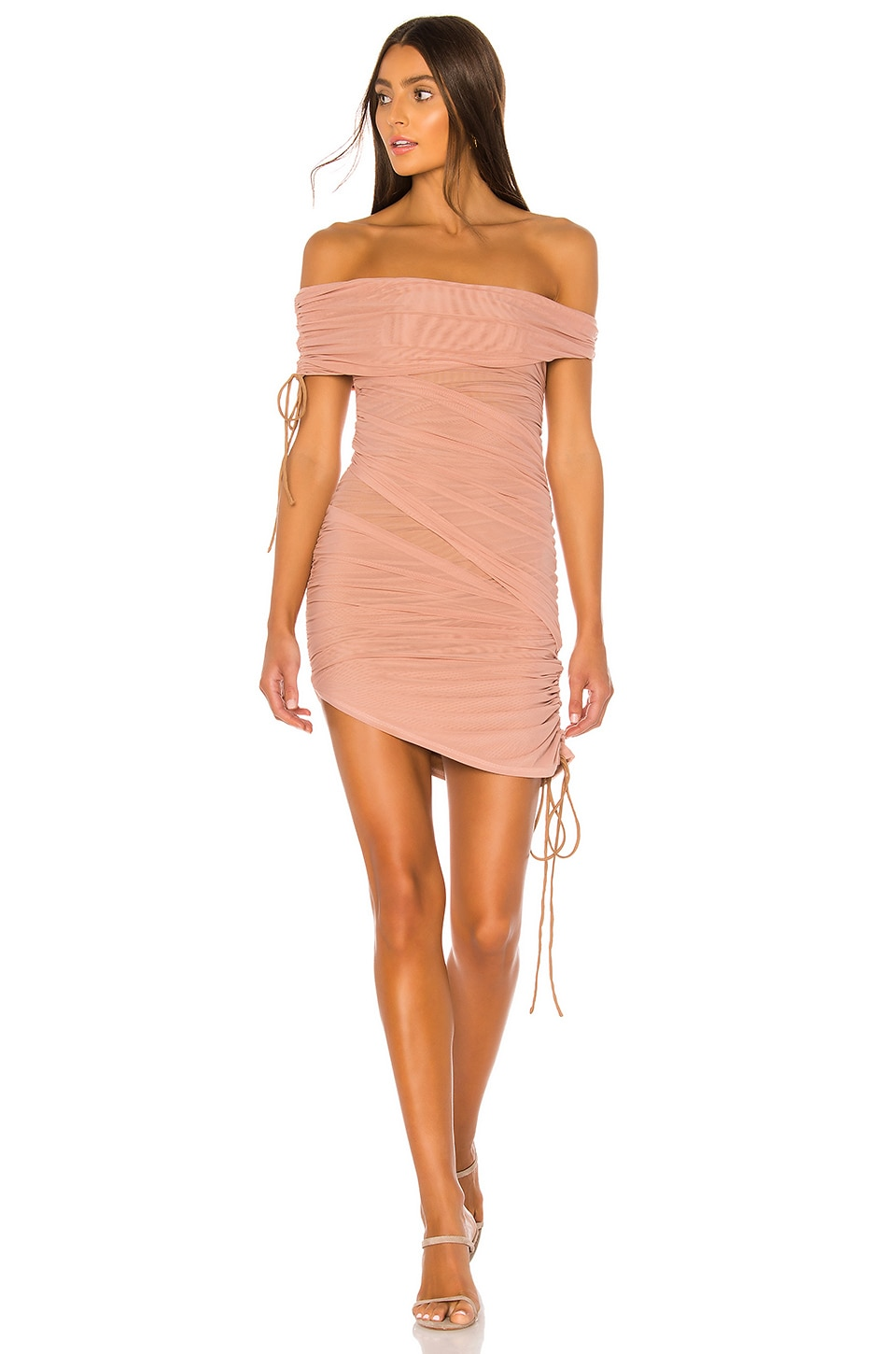 MAJORELLE Phoenix Mini Dress in Nude