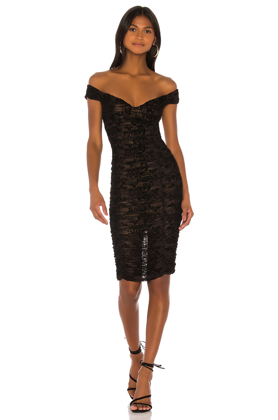 MAJORELLE Tabitha Midi Dress in Black