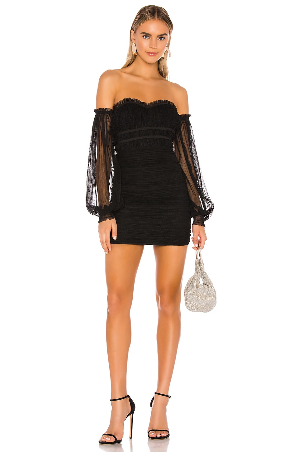 MAJORELLE Zata Dress in Black