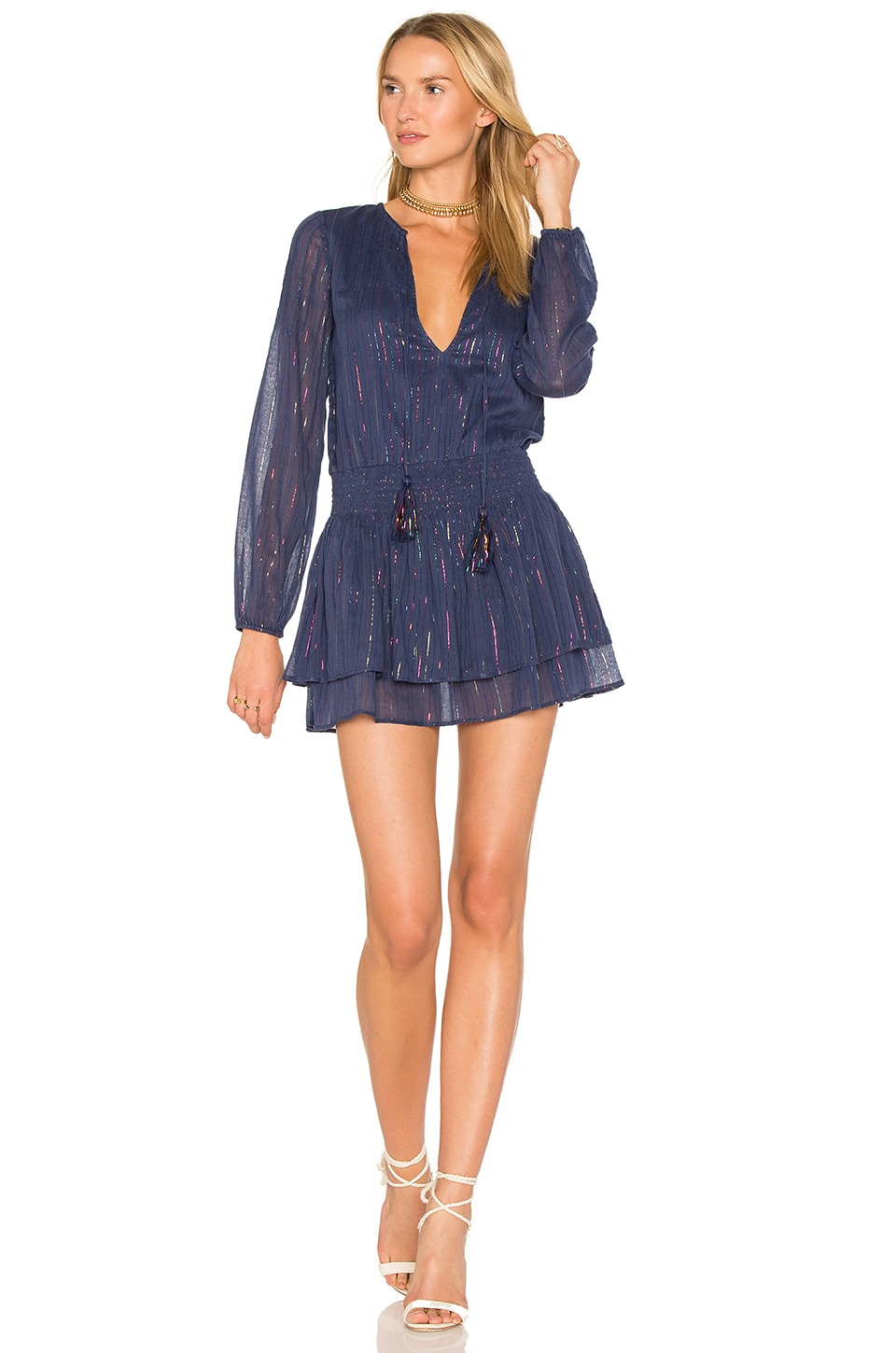 MAJORELLE Teresa Dress in Navy Prism