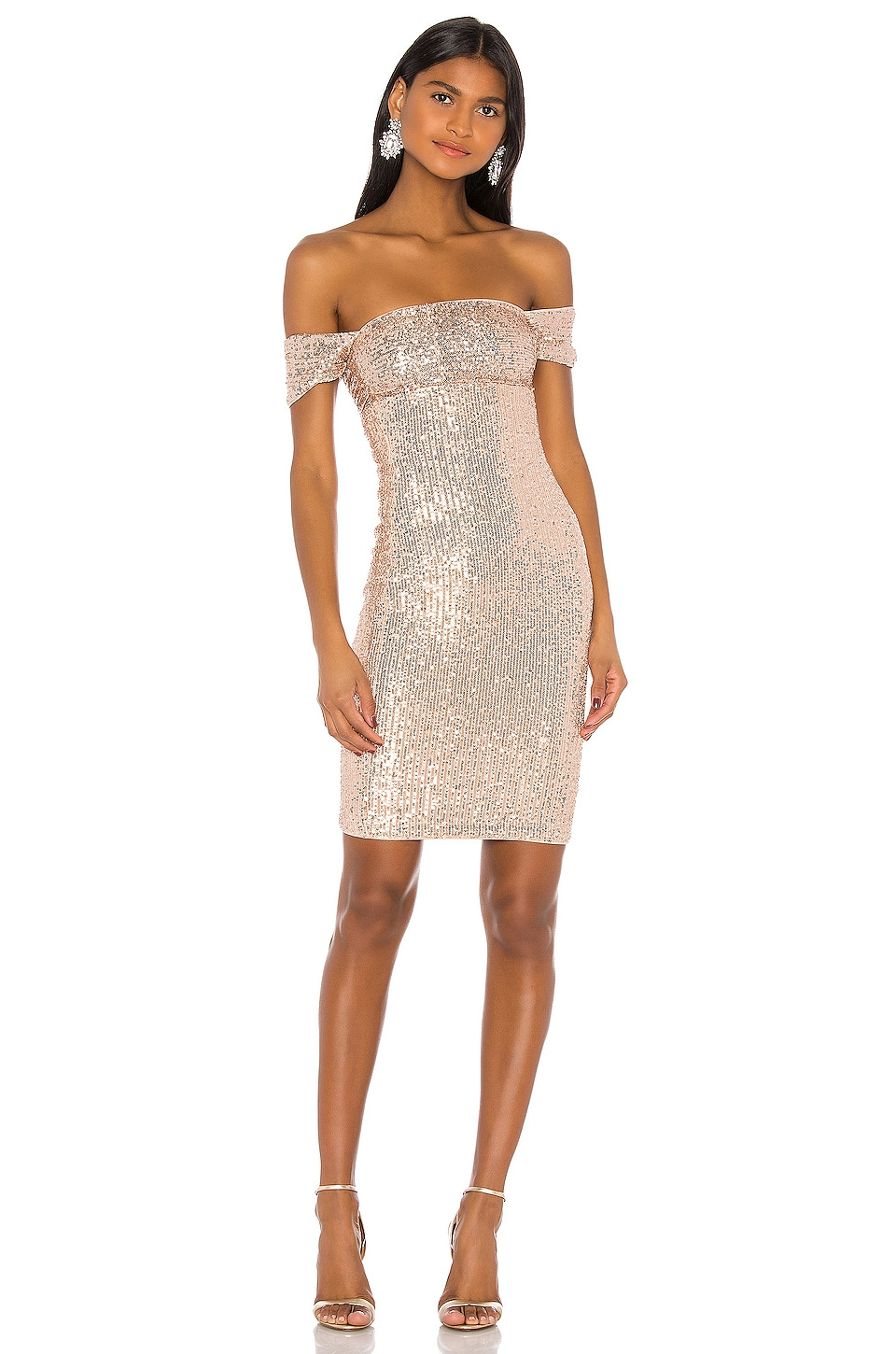MAJORELLE Lagos Midi Dress in Champagne