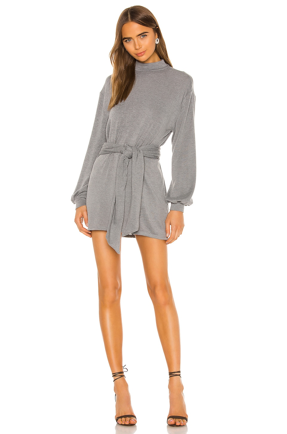 MAJORELLE Edwin Mini Dress in Grey