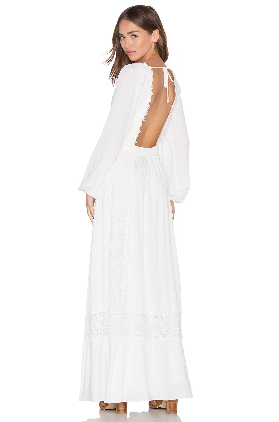 MAJORELLE Prairie Maxi Dress in Ivory