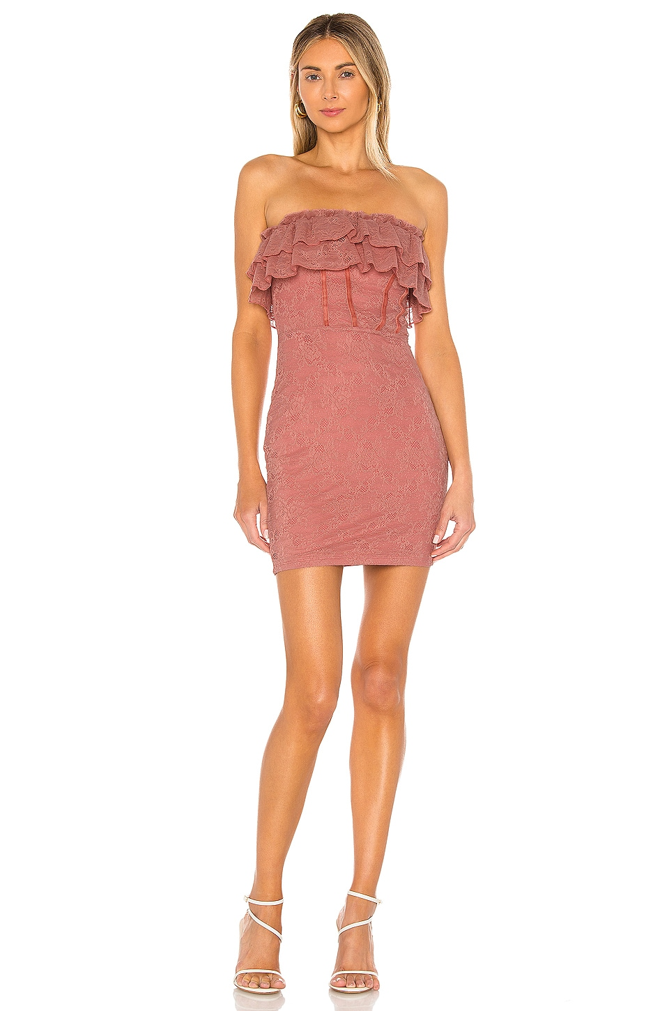 MAJORELLE Coda Mini Dress in Blush