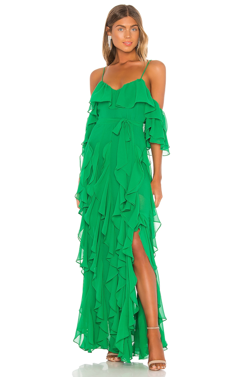 MAJORELLE Tasmania Gown in Bright Green