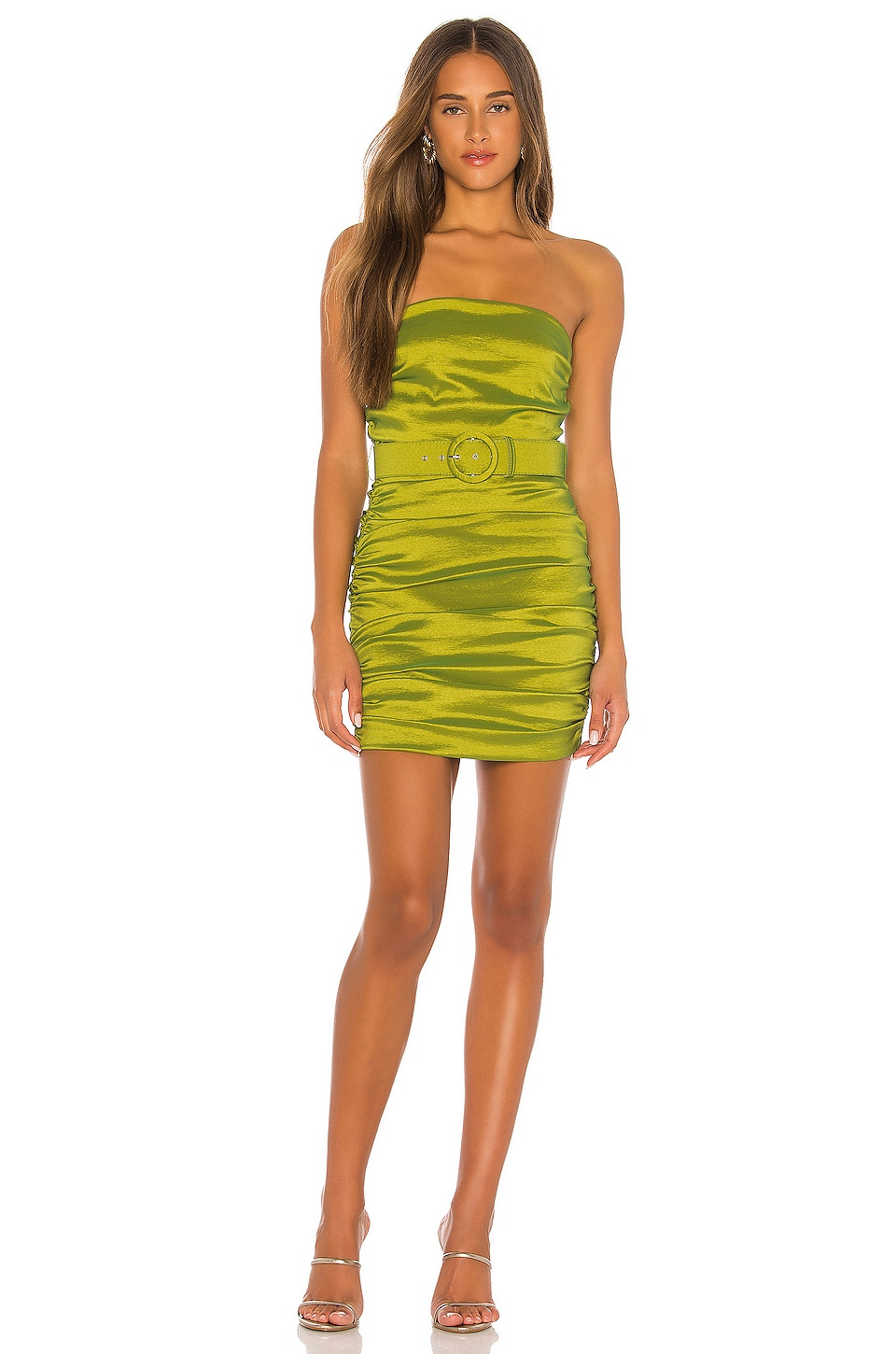 MAJORELLE Kaci Dress in Lime