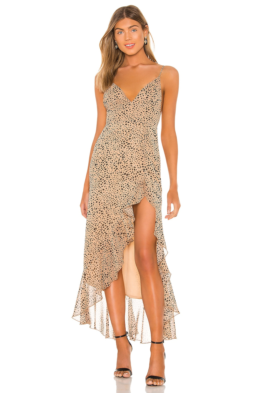 MAJORELLE Loreto Dress in Natural Leopard