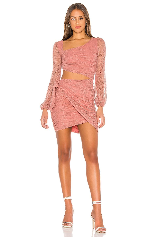 MAJORELLE Everett Mini Dress in Blush
