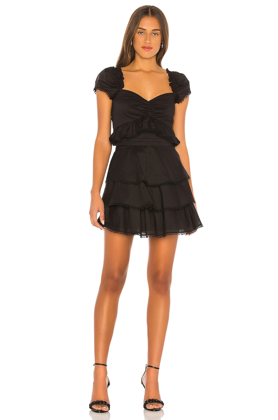MAJORELLE Summer Nights Dress in Black