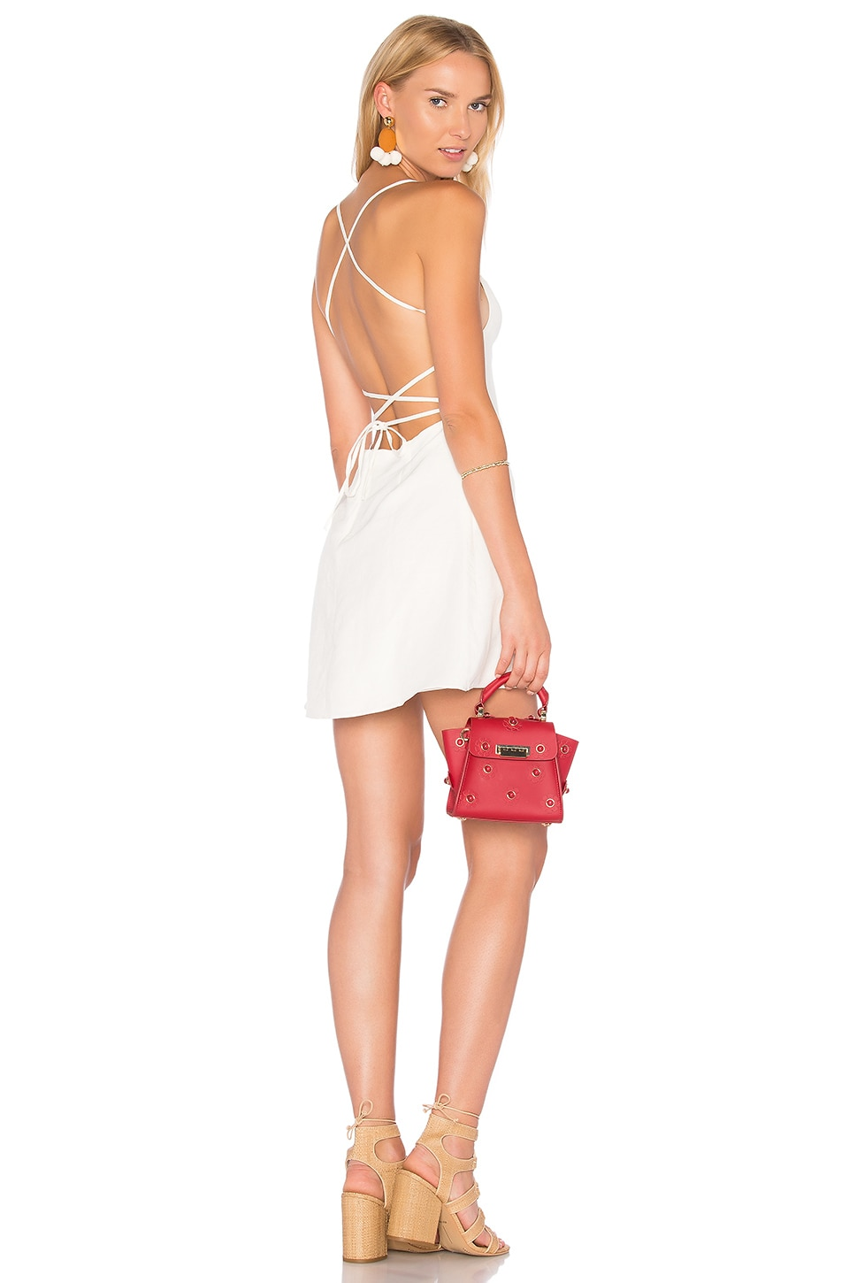 MAJORELLE Leticia Dress in Ivory