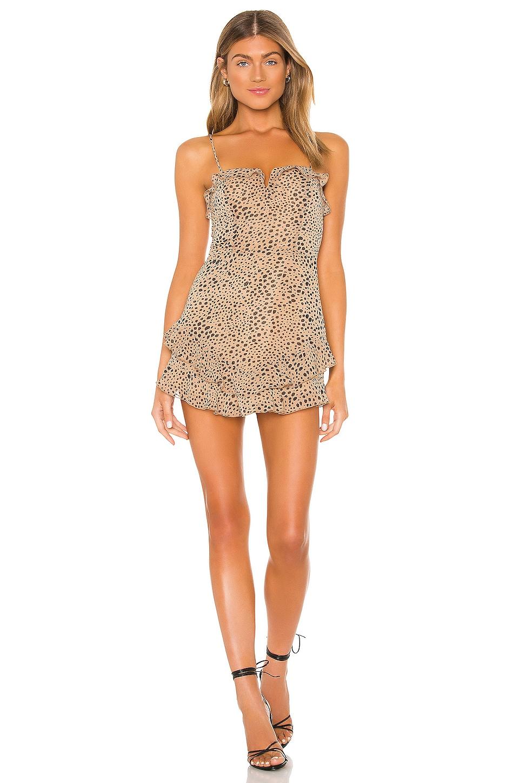 MAJORELLE Florida Dress in Natural Leopard
