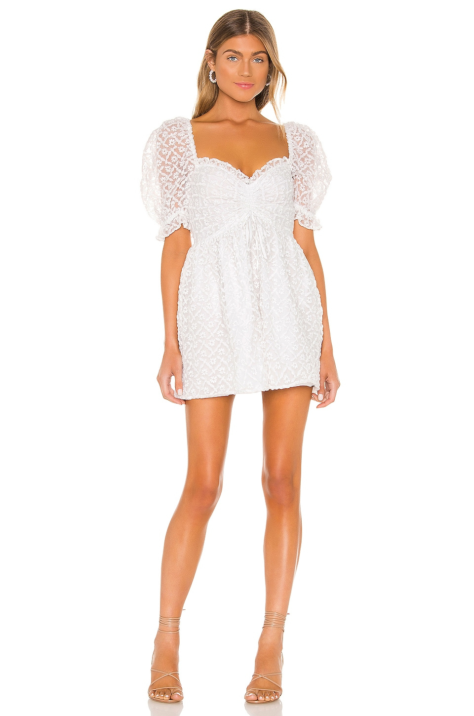MAJORELLE Nicoli Dress in White