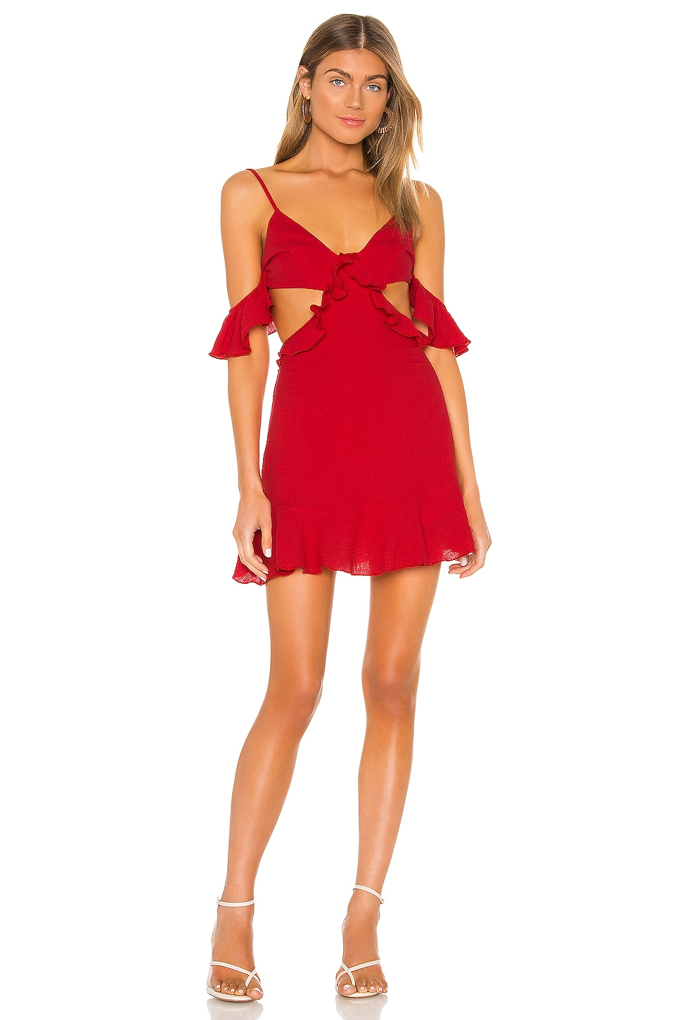 MAJORELLE Tango Mini Dress in Red