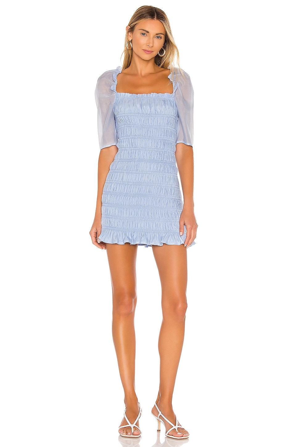 MAJORELLE Jex Dress in Light Blue