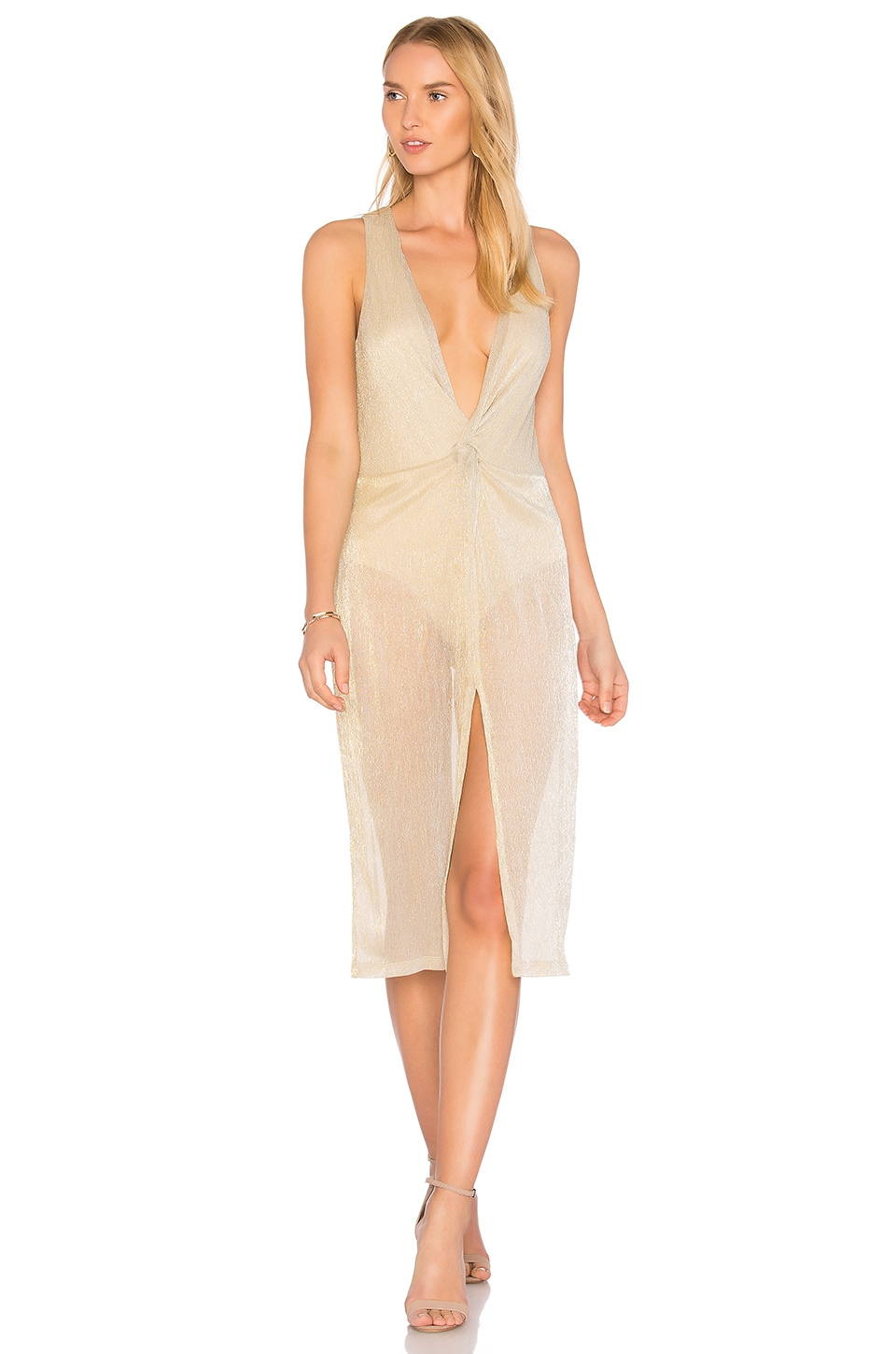 MAJORELLE Copacabana Dress in Bronze