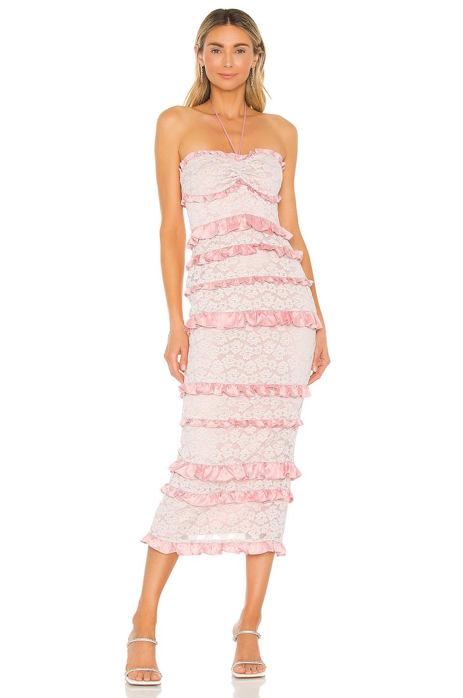 MAJORELLE Lyla Midi Dress in Cotton Candy