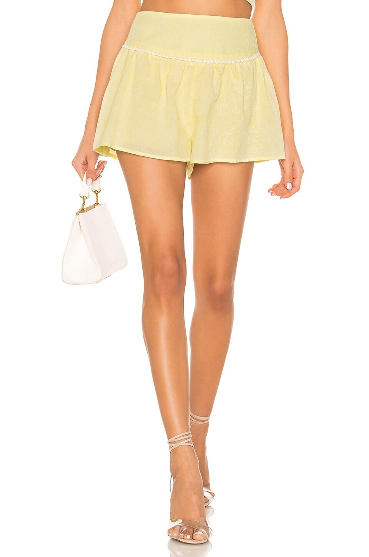 MAJORELLE Gloria Shorts in Baby Yellow