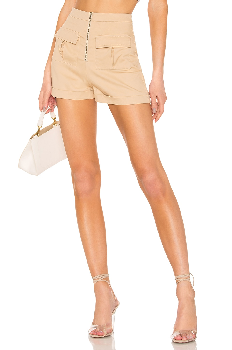 MAJORELLE Tahlia Short in Khaki Tan